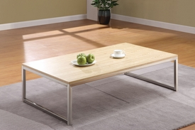 Osip Natural & Chrome Finish Coffee Table