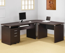 Papineau Contemporary L Shaped Computer Desk