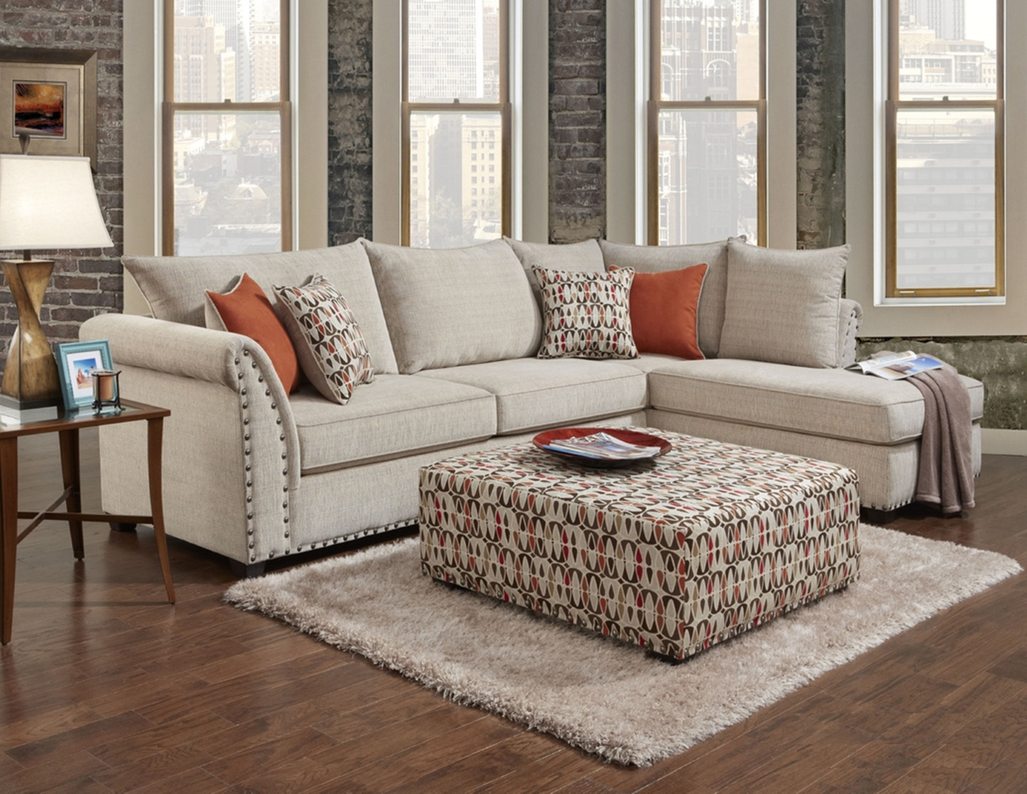 Patton beige sectional 1850 dallas designer furniture for Furniture 4 less dallas tx