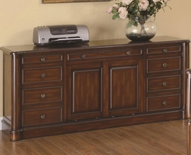 Peterson Nine Drawer Office Credenza with Cabinet