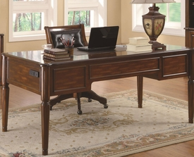 Peterson Transitional Five Drawer Table Desk