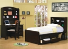 Phoenix Collection with Bookcase Bed 4-pc Set