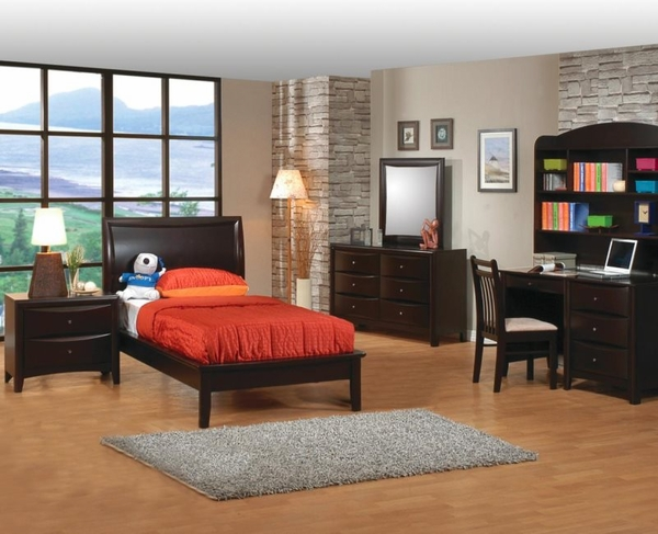 Phoenix Collection with Platform Bed 5-pc Set