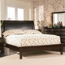 Phoenix Queen Platform Bed with Vinyl Panel Headboard