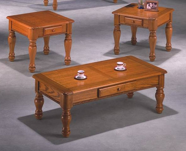 Pine 3-Pc Coffee Table Set