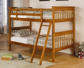 Pine Finish Twin Over Twin Bunk Bed