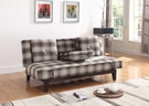 Plaid Convertible Sofa Bed