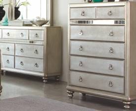Platinum Metallic Finish Chest