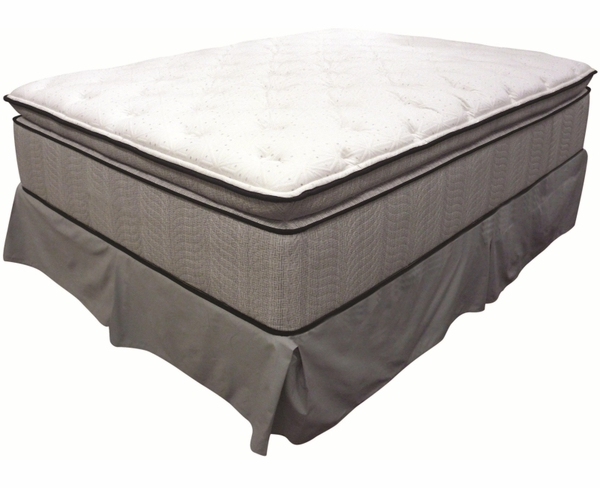 Queen Jumbo Pillow Top Mattress and Foundation