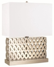 Rectangle Brushed Steel Finish Base Table Lamp