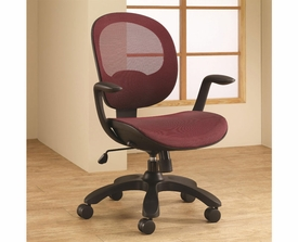 Red Adjustable Height Office Chair