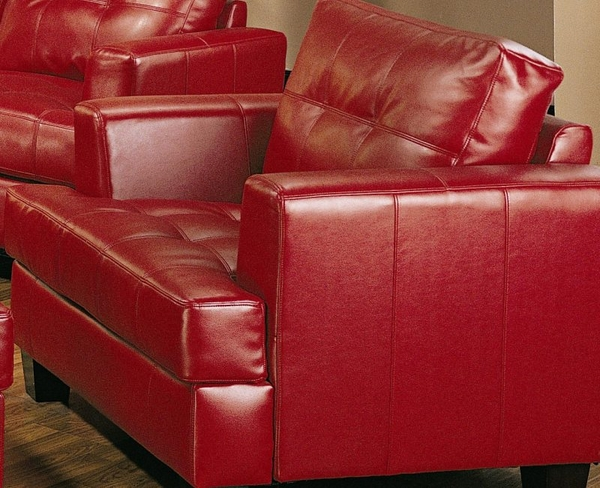 Red Bonded Leather Chair