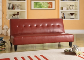 Red Bycast PU Adjustable Sofa