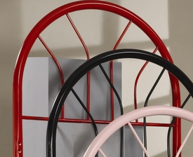 Red Finish Twin Metal Headboard