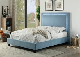 Erglow LED Blue Queen Bed