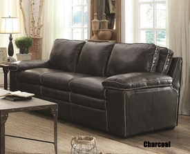 Regalvale Charcoal Top Grain Leather Sofa