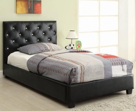 Regina Upholstered Twin Bed with Button Tufting