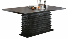 Rich Black Finish Dining Table # 102061