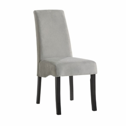 Rich Black Finish Gray Chair # 102062 (2pk)