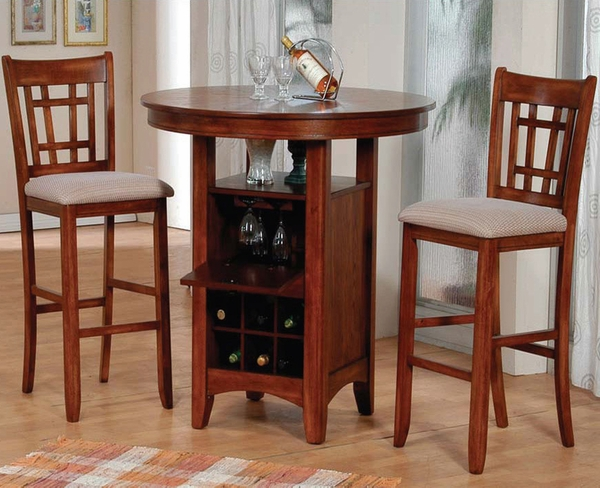 Round 3-Pc Bar Table Set