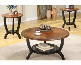 Round  3-Pc Coffee Table Set