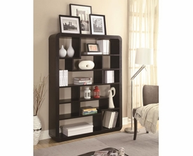 Rounded Rectangle Bookcase with Random Compartment Shelving