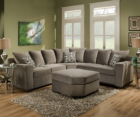 Roxanne Gun Smoke Sectional