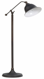 Rubbed Black Metal Finish Floor Lamp