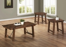 Rustic Pecan Finish Occasional Collection 3-pc Set