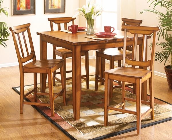 Santa Fe II 5-Pc Counter Height Dining Set