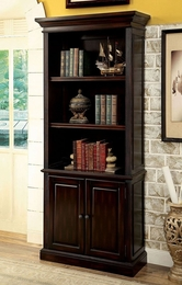 Coolidge Book Shelf with 3 Shelves and Door Base