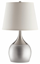 Silver Color Block Style Base Table Lamp