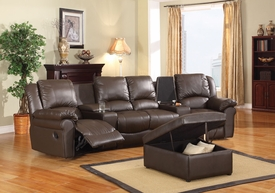 Simone Brown Home Theatre Sectional Set