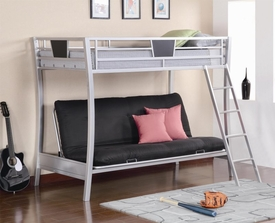 Sleek Metal Futon Bunk Bed