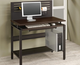 Slotted Back Computer Desk with 2 Drawers