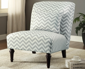 Grey and White Chevron Accent Chair
