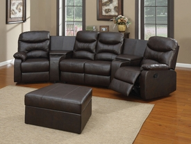 Spokane Black Leather Match Home Theater Set