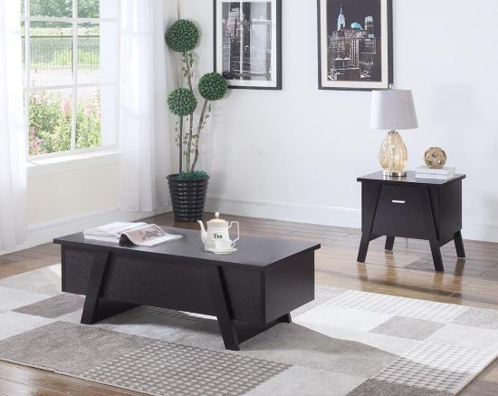 Cappuccino Lift Top 3-pc Coffee Table Set