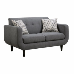 Stansall Grey Linen Loveseat