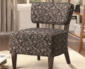 Starburst Accent Chair with Wood Legs