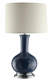 Steel Blue Table Lamp