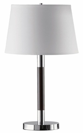 Table Lamp with Chrome & Espresso Finished Base