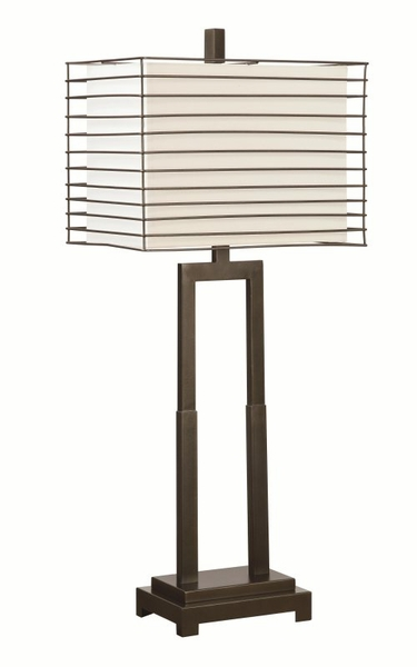 Table Lamp with Outer Metal Frame