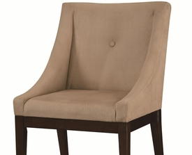 Taupe Accent Seating Chair with Accent Button
