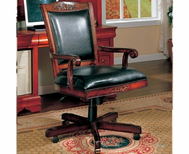 Traditional Faux Leather Office Task Chair