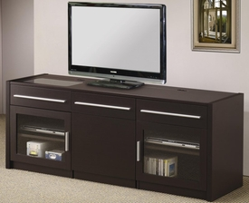 TV Console with Hidden Mobile Computer Caddy