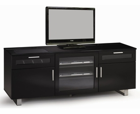 TV Console with High Gloss Black Finish