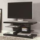 TV Stand with Alternating Glass Shelves