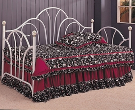 Twin Daybed with Metal Fetal Fan Bath