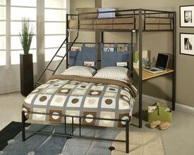 Twin/Full Bunk Bed w/Study Desk